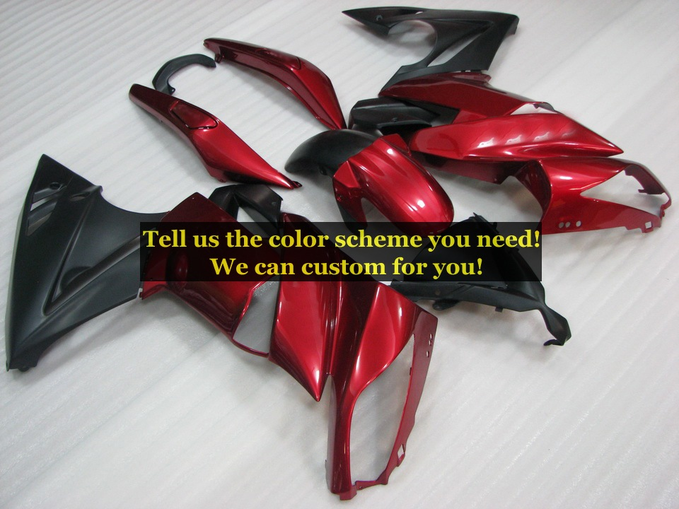 custom fairing kits fit for Kawasaki ER-6F 2009 2010 2011